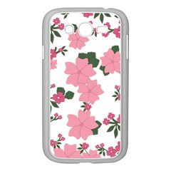 Vintage Floral Wallpaper Background In Shades Of Pink Samsung Galaxy Grand Duos I9082 Case (white)