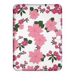 Vintage Floral Wallpaper Background In Shades Of Pink Samsung Galaxy Tab 4 (10 1 ) Hardshell Case