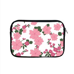 Vintage Floral Wallpaper Background In Shades Of Pink Apple Macbook Pro 15  Zipper Case by Simbadda
