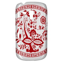 Red Vintage Floral Flowers Decorative Pattern Galaxy S3 Mini by Simbadda