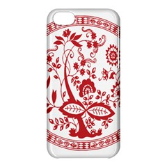 Red Vintage Floral Flowers Decorative Pattern Apple Iphone 5c Hardshell Case by Simbadda