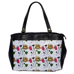 Handmade Pattern With Crazy Flowers Office Handbags by Simbadda