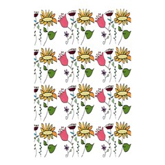 Handmade Pattern With Crazy Flowers Shower Curtain 48  X 72  (small)  by Simbadda