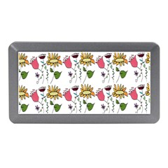 Handmade Pattern With Crazy Flowers Memory Card Reader (mini) by Simbadda
