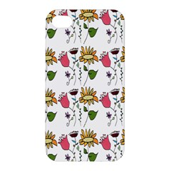 Handmade Pattern With Crazy Flowers Apple Iphone 4/4s Premium Hardshell Case by Simbadda