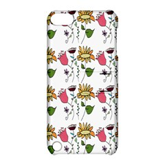 Handmade Pattern With Crazy Flowers Apple Ipod Touch 5 Hardshell Case With Stand