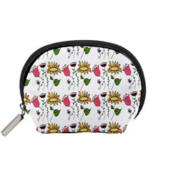Handmade Pattern With Crazy Flowers Accessory Pouches (small)  by Simbadda