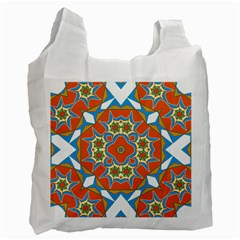 Digital Computer Graphic Geometric Kaleidoscope Recycle Bag (two Side)