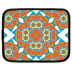 Digital Computer Graphic Geometric Kaleidoscope Netbook Case (xl)