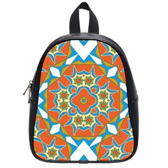 Digital Computer Graphic Geometric Kaleidoscope School Bags (small)  by Simbadda