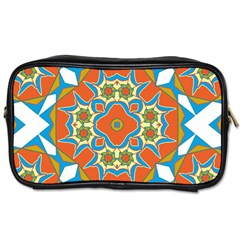 Digital Computer Graphic Geometric Kaleidoscope Toiletries Bags by Simbadda