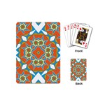 Digital Computer Graphic Geometric Kaleidoscope Playing Cards (Mini)  Back