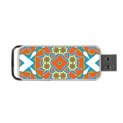 Digital Computer Graphic Geometric Kaleidoscope Portable Usb Flash (two Sides) by Simbadda