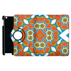 Digital Computer Graphic Geometric Kaleidoscope Apple Ipad 3/4 Flip 360 Case by Simbadda