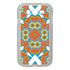 Digital Computer Graphic Geometric Kaleidoscope Samsung Galaxy Grand Duos I9082 Case (white) by Simbadda