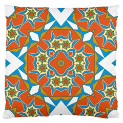 Digital Computer Graphic Geometric Kaleidoscope Standard Flano Cushion Case (two Sides) by Simbadda