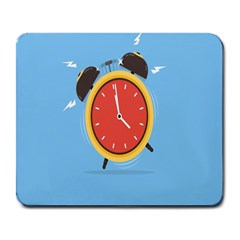 Alarm Clock Weker Time Red Blue Large Mousepads