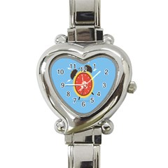 Alarm Clock Weker Time Red Blue Heart Italian Charm Watch by Alisyart