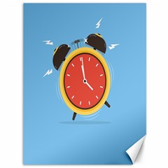 Alarm Clock Weker Time Red Blue Canvas 36  X 48   by Alisyart