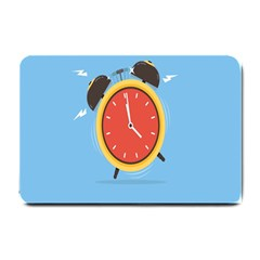 Alarm Clock Weker Time Red Blue Small Doormat  by Alisyart