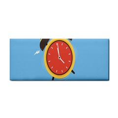 Alarm Clock Weker Time Red Blue Cosmetic Storage Cases by Alisyart