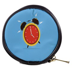 Alarm Clock Weker Time Red Blue Mini Makeup Bags by Alisyart