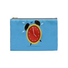 Alarm Clock Weker Time Red Blue Cosmetic Bag (medium)  by Alisyart