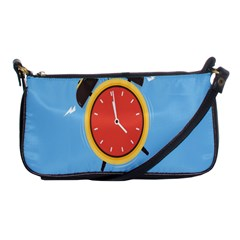 Alarm Clock Weker Time Red Blue Shoulder Clutch Bags by Alisyart