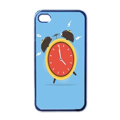Alarm Clock Weker Time Red Blue Apple Iphone 4 Case (black)