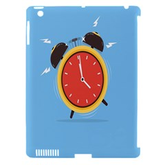 Alarm Clock Weker Time Red Blue Apple Ipad 3/4 Hardshell Case (compatible With Smart Cover)