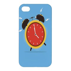 Alarm Clock Weker Time Red Blue Apple Iphone 4/4s Premium Hardshell Case by Alisyart
