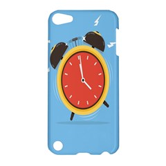 Alarm Clock Weker Time Red Blue Apple Ipod Touch 5 Hardshell Case by Alisyart
