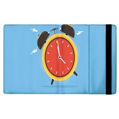 Alarm Clock Weker Time Red Blue Apple Ipad 2 Flip Case by Alisyart