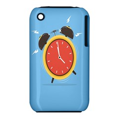 Alarm Clock Weker Time Red Blue Iphone 3s/3gs