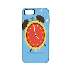Alarm Clock Weker Time Red Blue Apple Iphone 5 Classic Hardshell Case (pc+silicone) by Alisyart