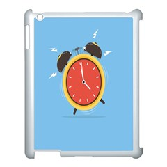 Alarm Clock Weker Time Red Blue Apple Ipad 3/4 Case (white)