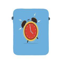 Alarm Clock Weker Time Red Blue Apple Ipad 2/3/4 Protective Soft Cases