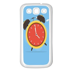 Alarm Clock Weker Time Red Blue Samsung Galaxy S3 Back Case (white) by Alisyart