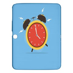Alarm Clock Weker Time Red Blue Samsung Galaxy Tab 3 (10 1 ) P5200 Hardshell Case  by Alisyart