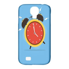 Alarm Clock Weker Time Red Blue Samsung Galaxy S4 Classic Hardshell Case (pc+silicone) by Alisyart