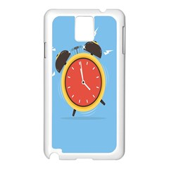 Alarm Clock Weker Time Red Blue Samsung Galaxy Note 3 N9005 Case (white) by Alisyart