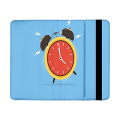 Alarm Clock Weker Time Red Blue Samsung Galaxy Tab Pro 8 4  Flip Case by Alisyart