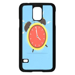 Alarm Clock Weker Time Red Blue Samsung Galaxy S5 Case (black) by Alisyart