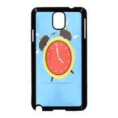 Alarm Clock Weker Time Red Blue Samsung Galaxy Note 3 Neo Hardshell Case (black)
