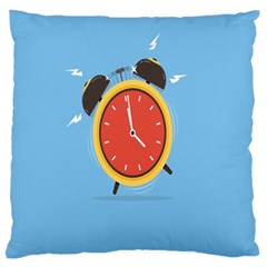 Alarm Clock Weker Time Red Blue Large Flano Cushion Case (two Sides) by Alisyart