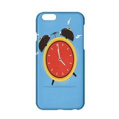 Alarm Clock Weker Time Red Blue Apple Iphone 6/6s Hardshell Case by Alisyart