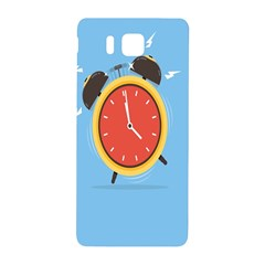Alarm Clock Weker Time Red Blue Samsung Galaxy Alpha Hardshell Back Case by Alisyart