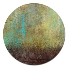 Aqua Textured Abstract Magnet 5  (round) by digitaldivadesigns