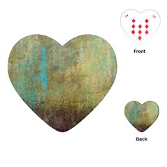 Aqua Textured Abstract Playing Cards (heart)  by digitaldivadesigns