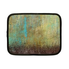 Aqua Textured Abstract Netbook Case (small)